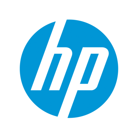 Light blue Hewlett Packard logo