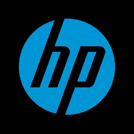 Light blue Hewlett Packard logo