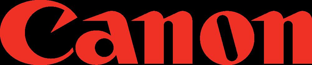 Bright red Canon logo.