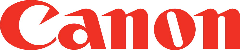 Bright red Canon logo.