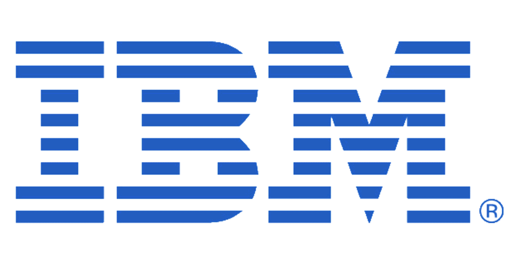 Blue line IBM logo