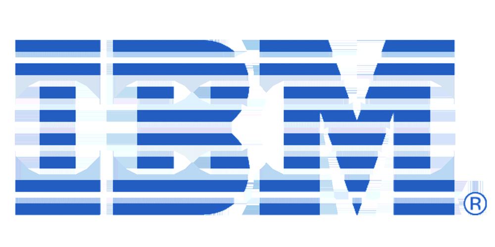 Blue line IBM logo
