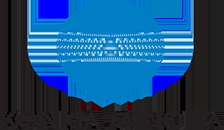 Blue and black Konica Minolta logo.