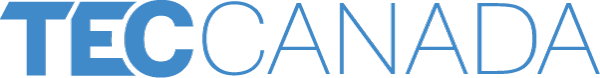 Muted blue logo of TEC Canada, a business resource organization.